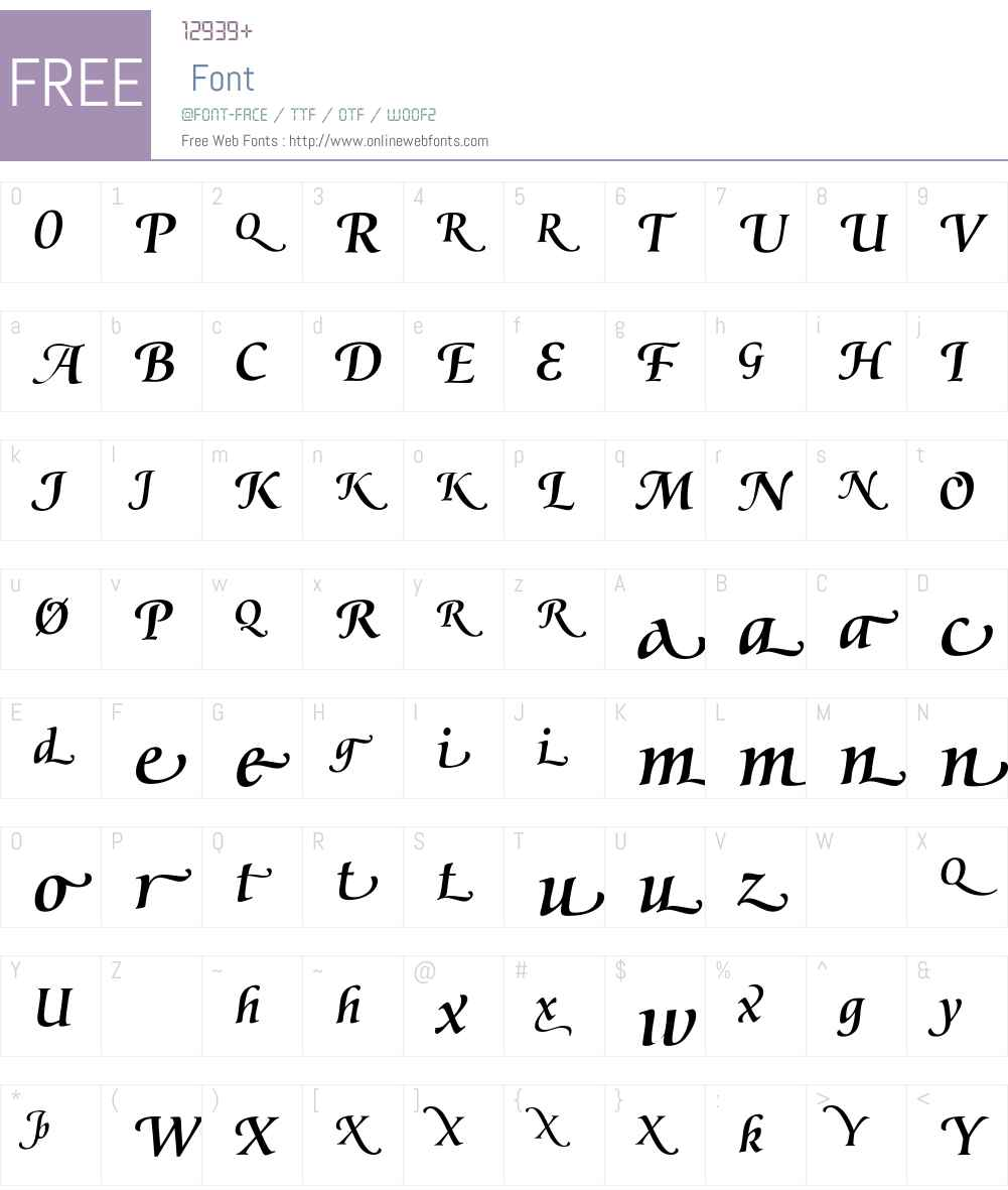 PrestigeFMediumW90-Regular Font Screenshots