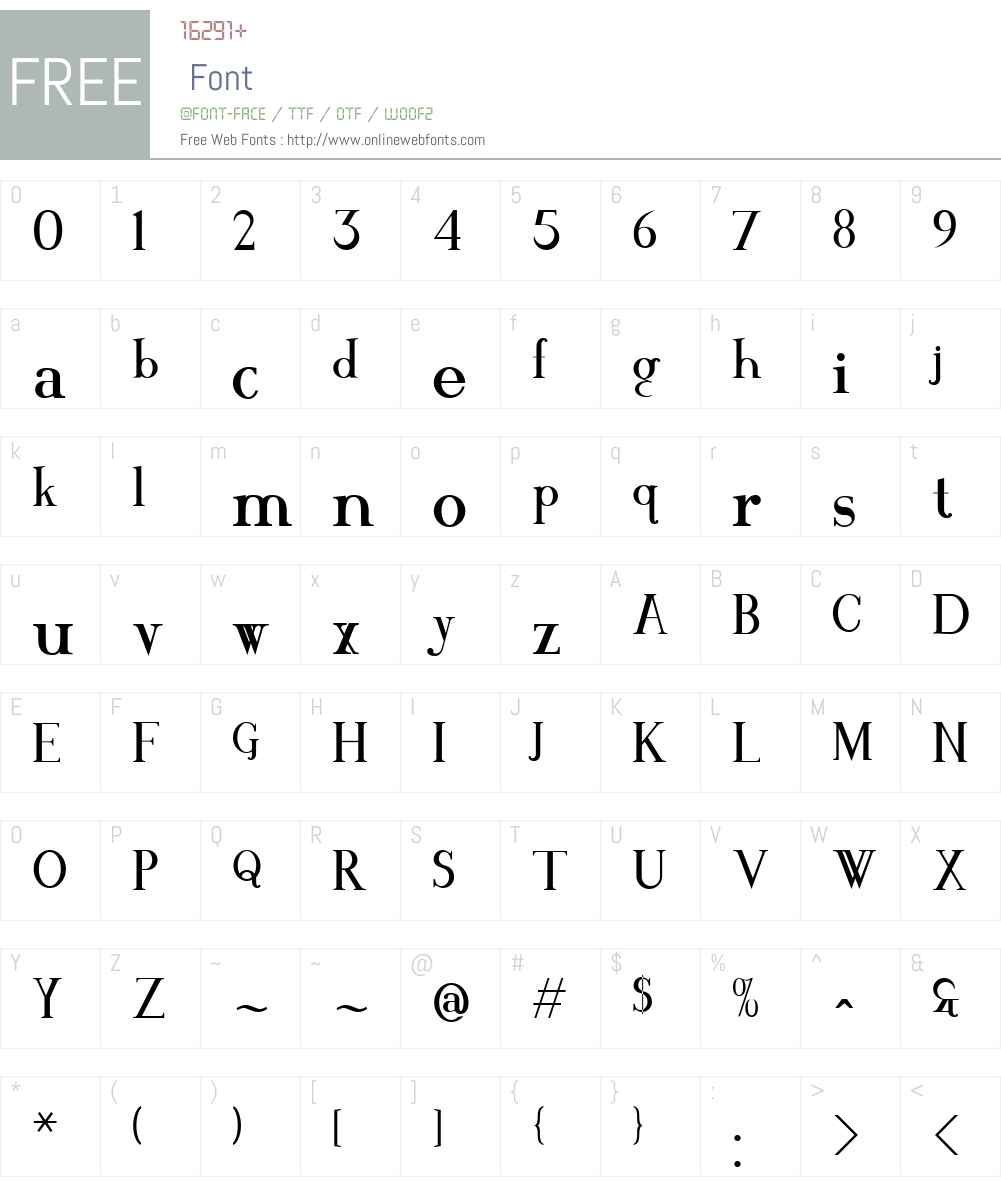 MAWNS Serif Font Screenshots