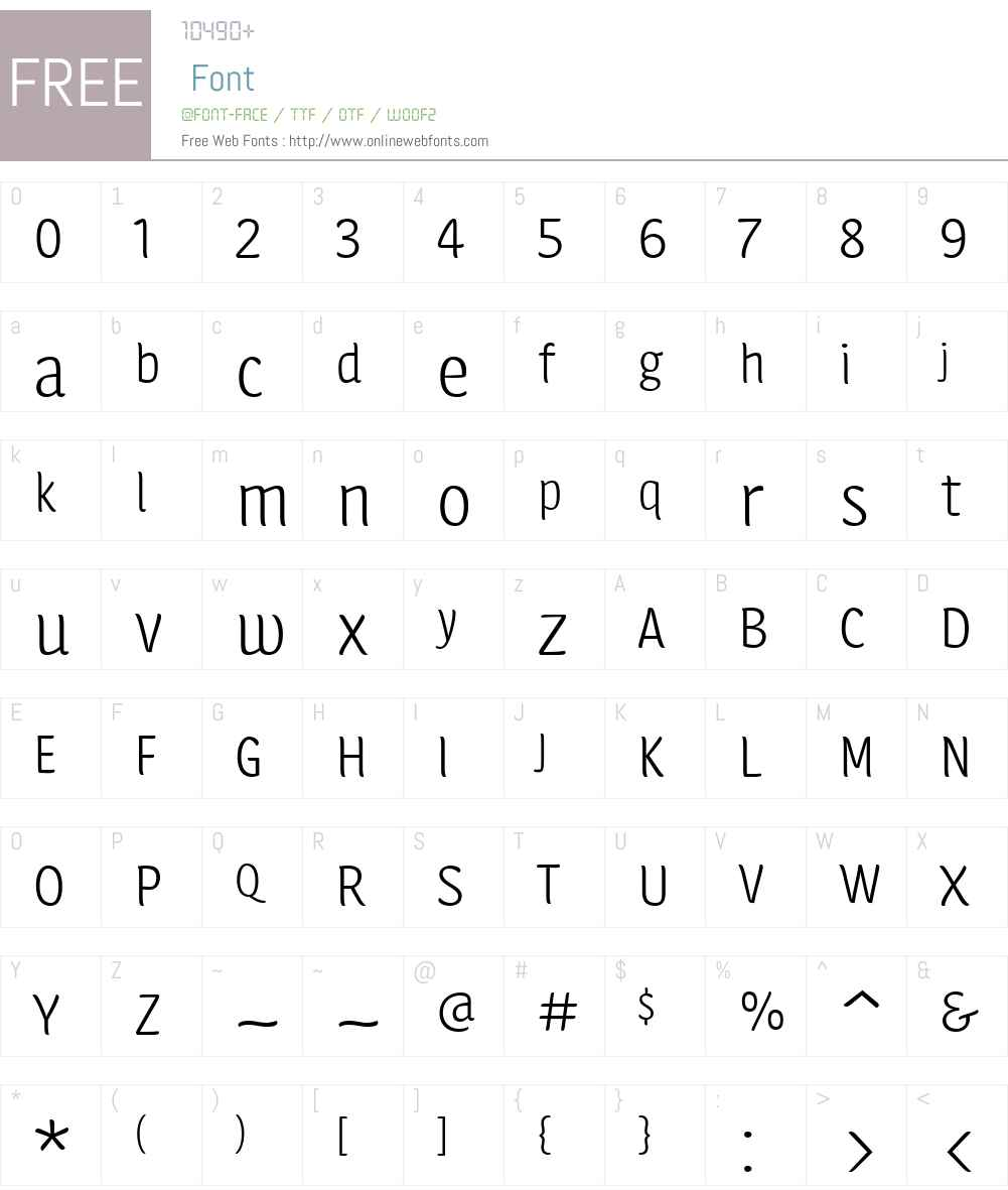 Calcine Font Screenshots