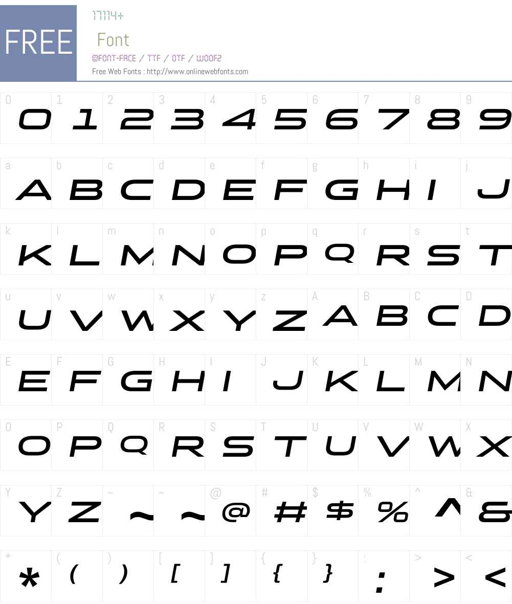StereoGothicW01-650Italic Font Screenshots