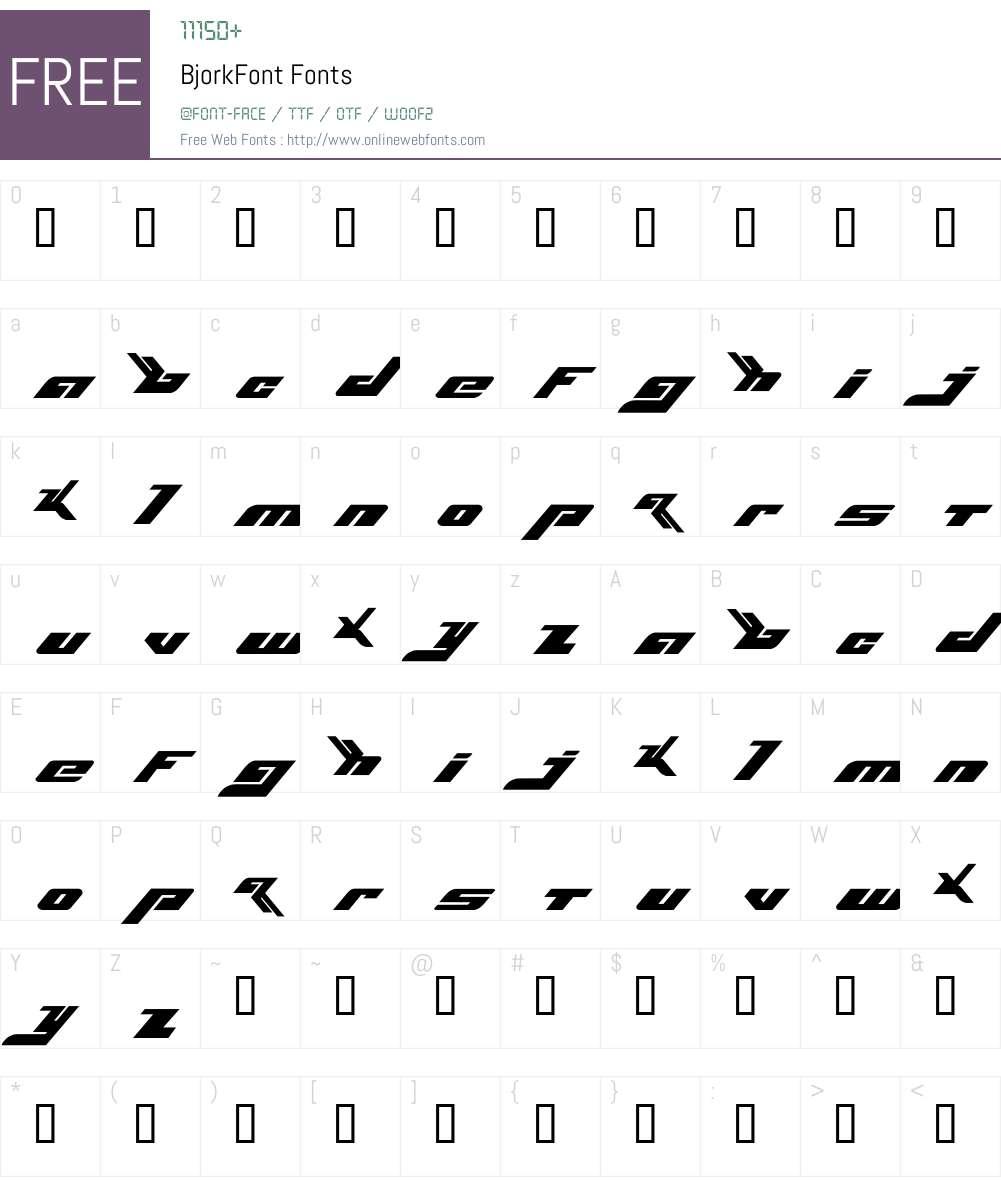BjorkFont Font Screenshots