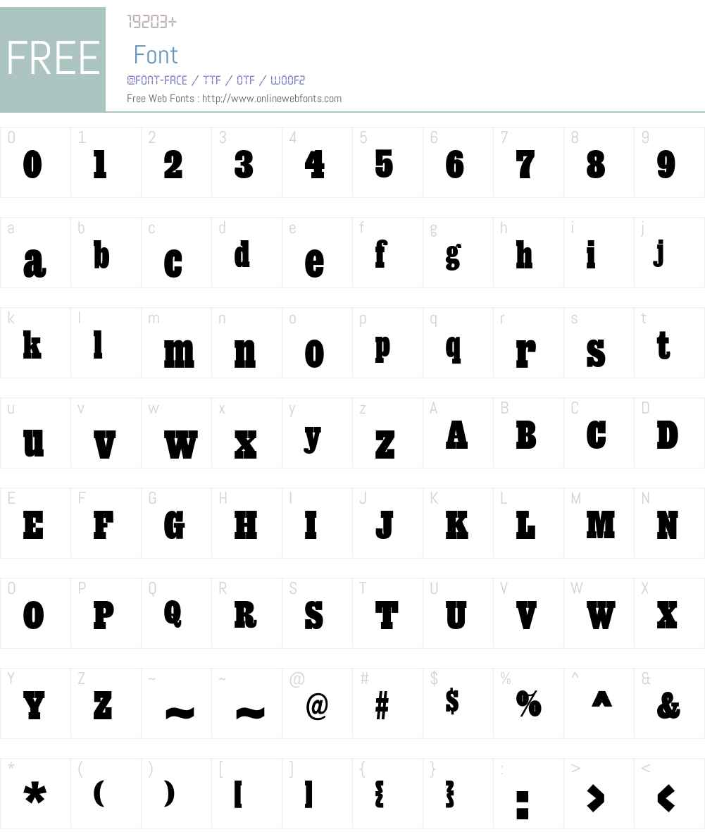 Giza Font Screenshots