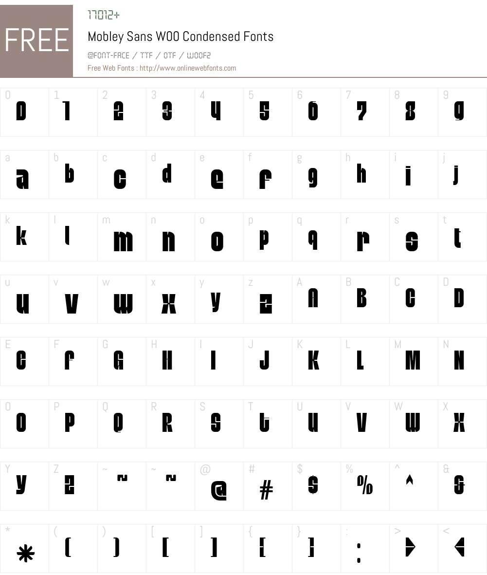 Mobley Sans Font Screenshots