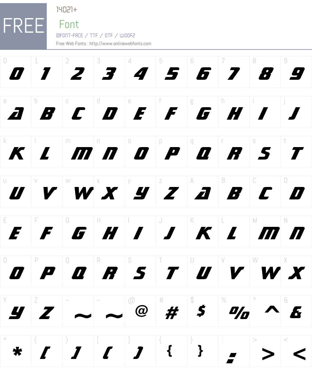 Sonic Cut Thru Font Screenshots