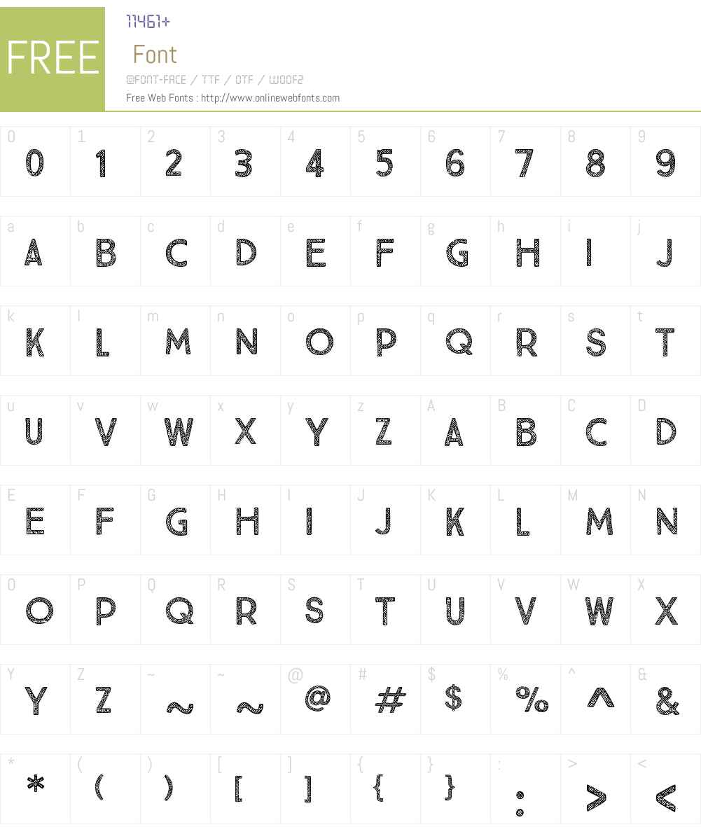 TrueNorthTexturesFive-Regular Font Screenshots