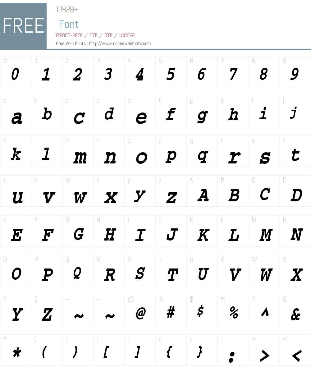 Chisel-Condensed Font Screenshots