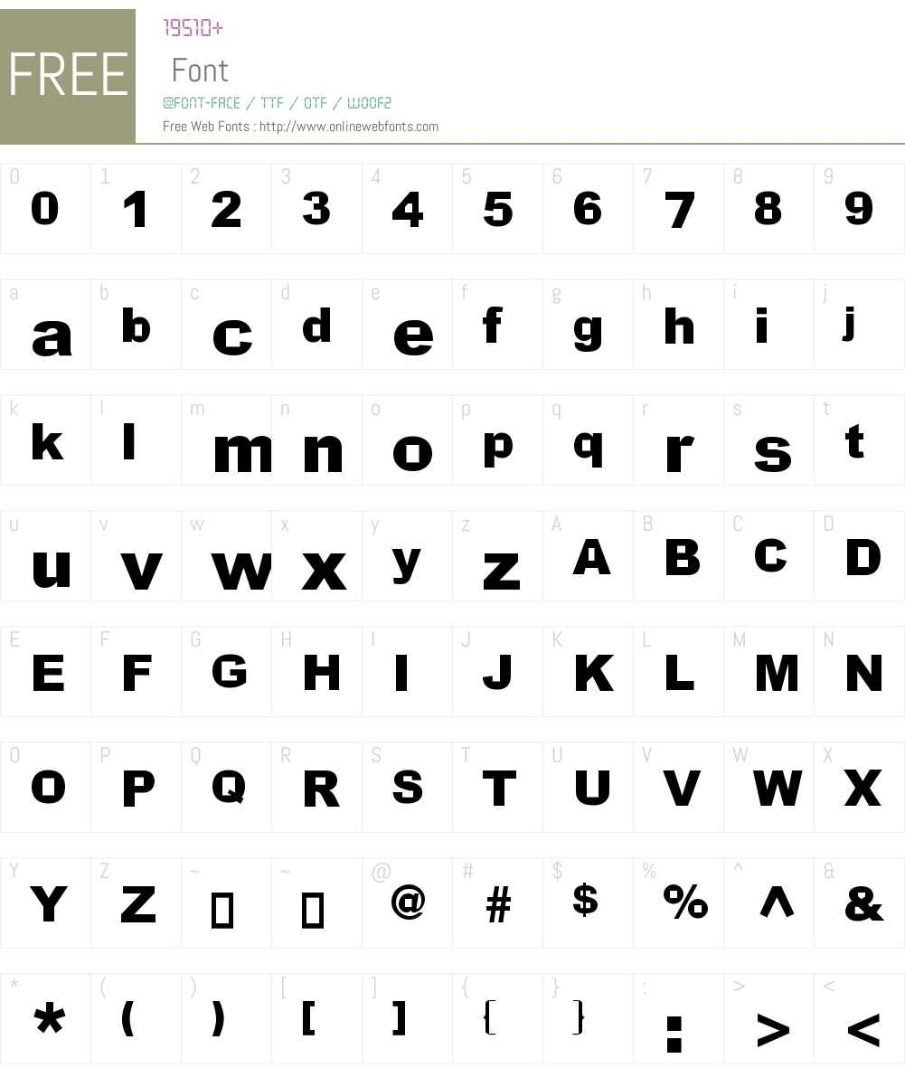 Incite Font Screenshots