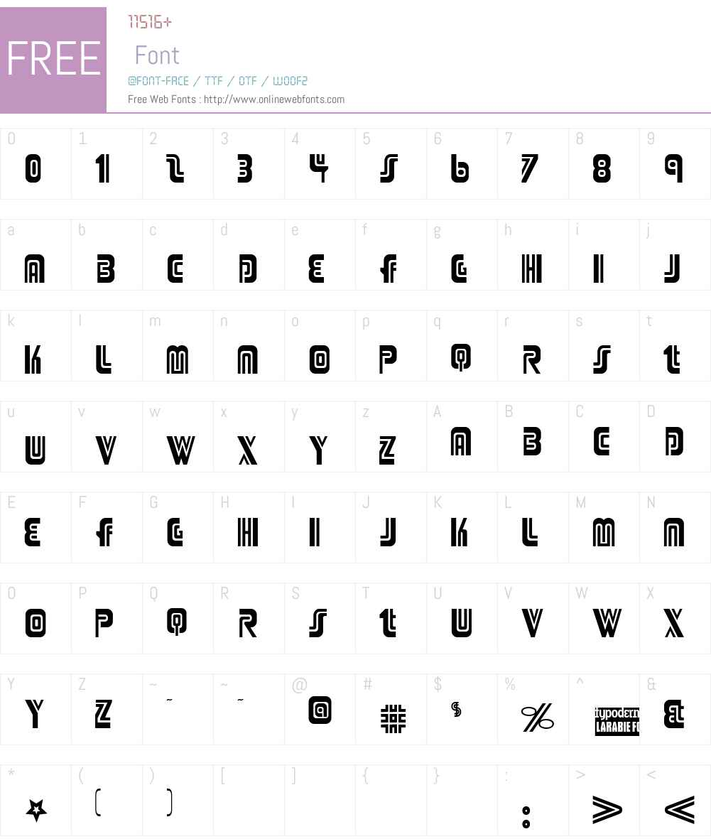 Adriator Font Screenshots