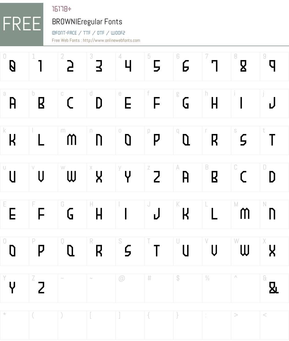 BROWNIEregular Font Screenshots