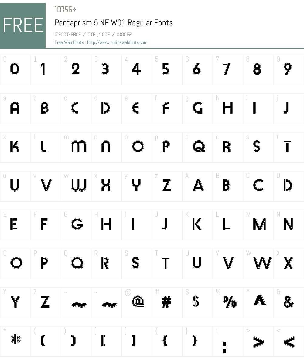 Pentaprism5NFW01-Regular Font Screenshots