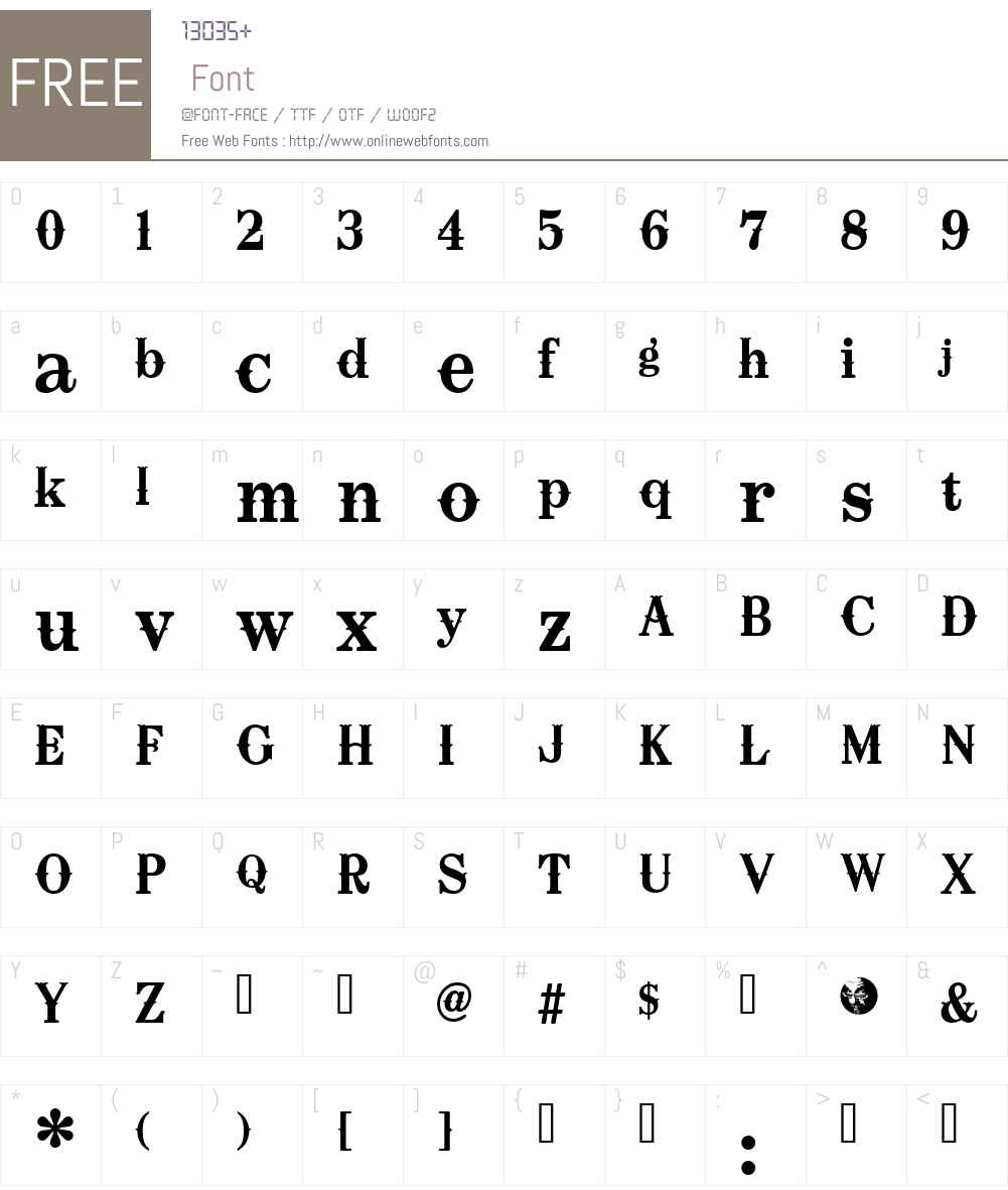 Oklahoma Font Screenshots