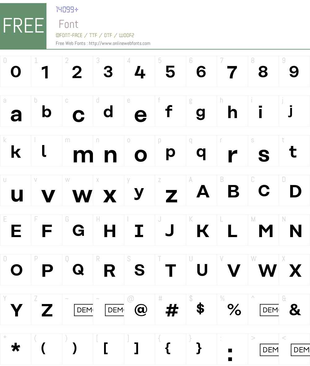 Rational SemiBold DEMO Font Screenshots