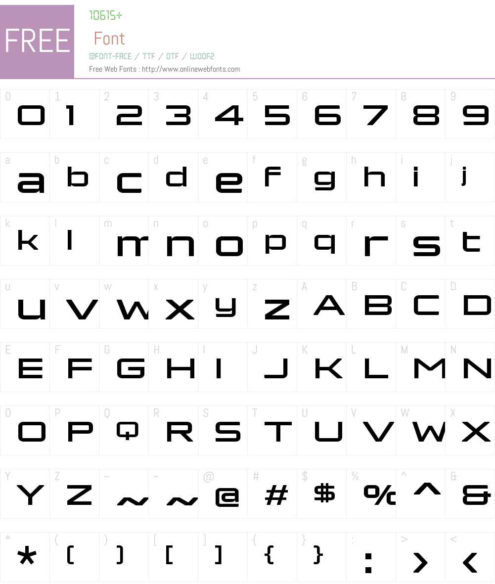 Bork Display Bold Font Screenshots
