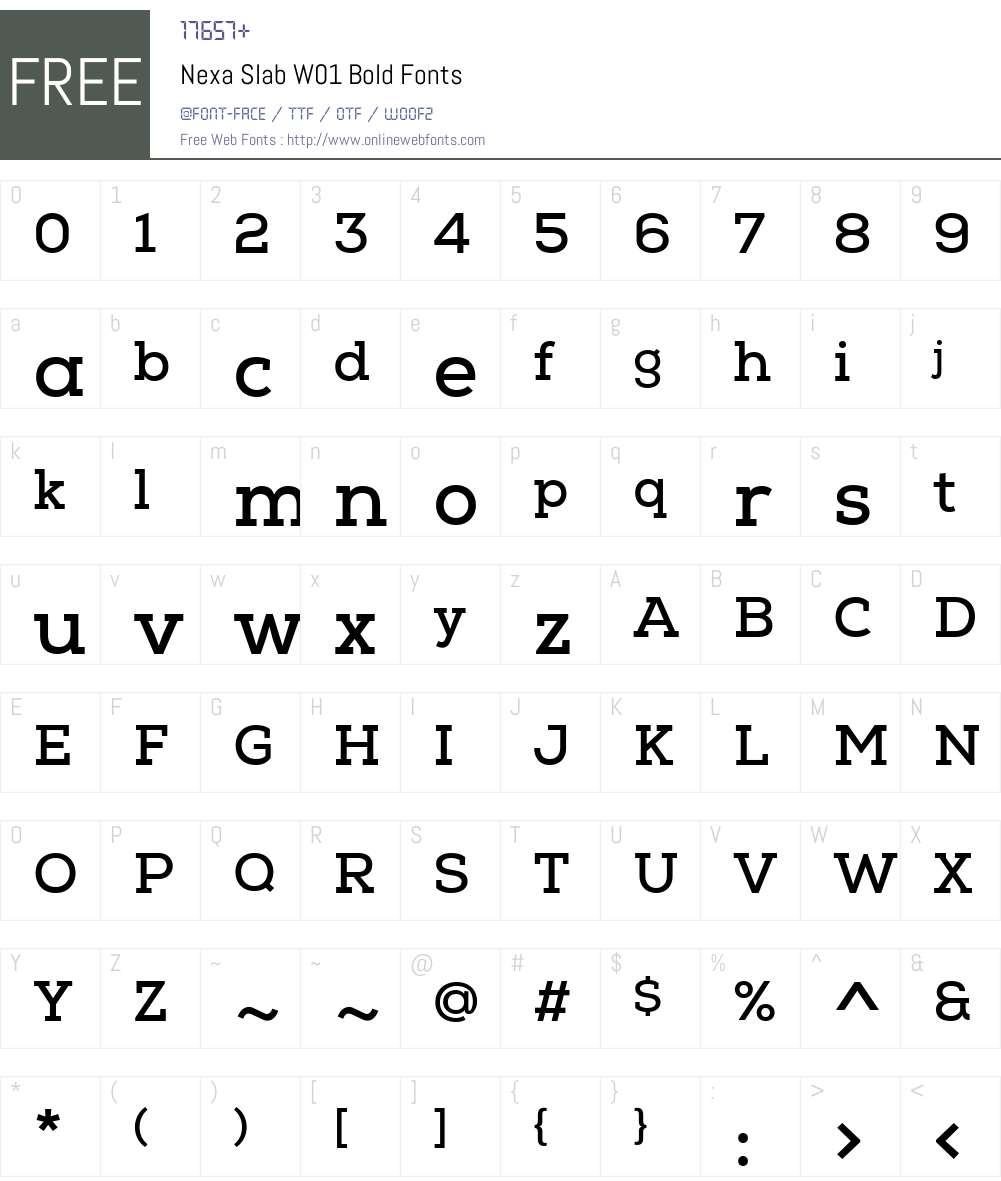 NexaSlabW01-Bold Font Screenshots