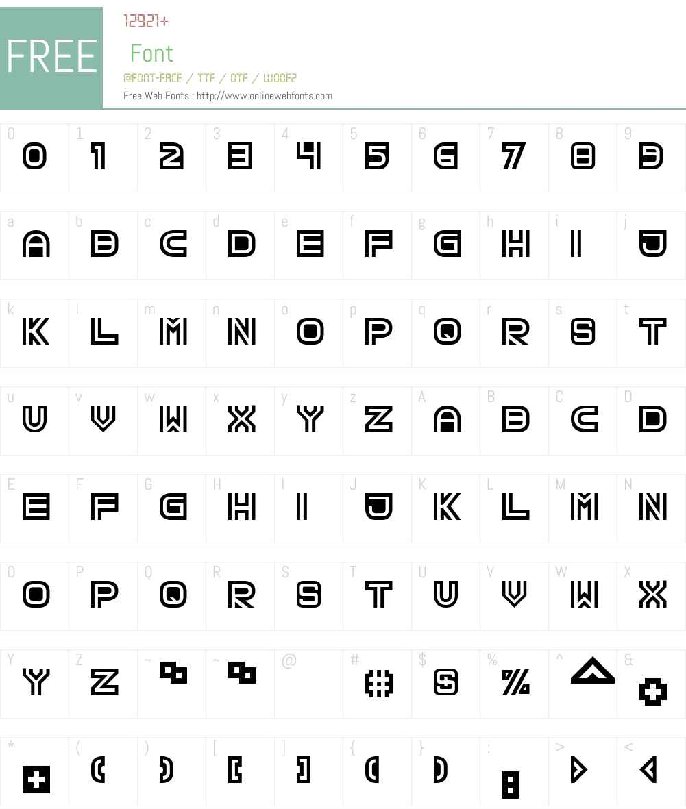 TPF Creol Font Screenshots