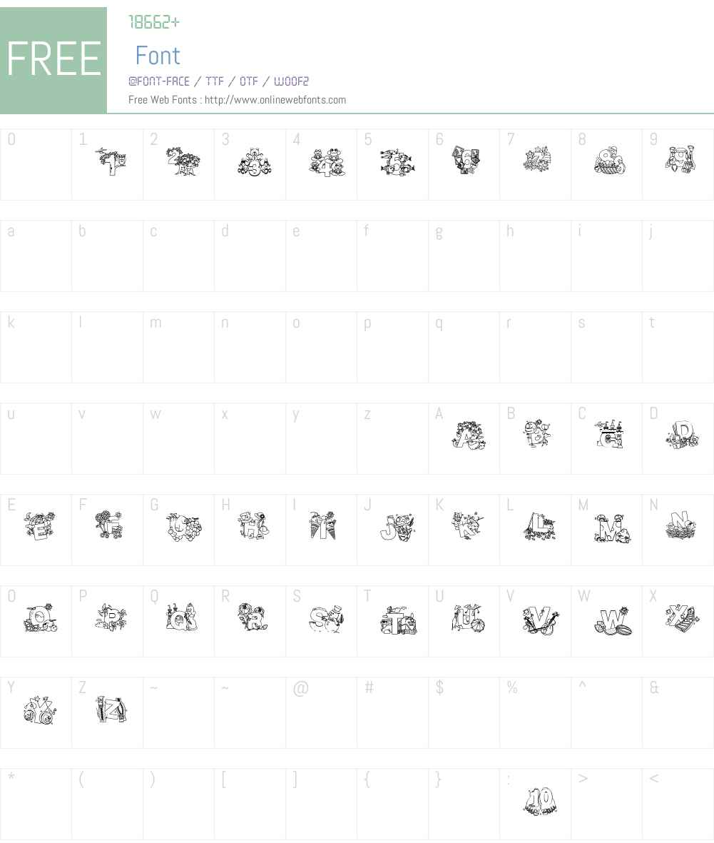 Crayola Kiddy Font Font Screenshots