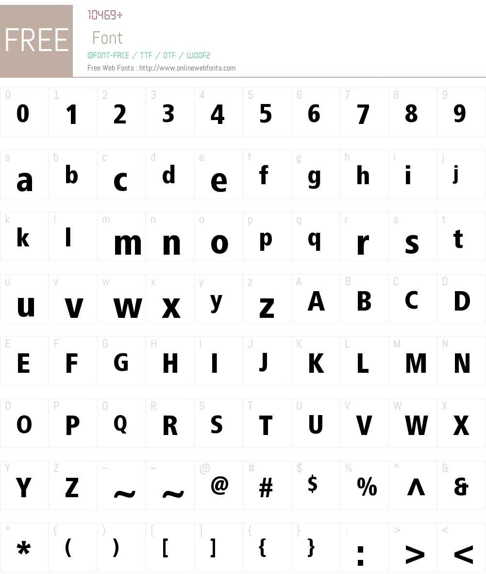 Frutiger Next LT W1G Heavy Cn Font Screenshots