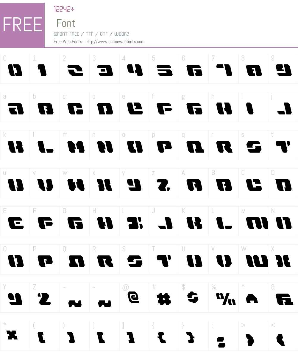Dan Stargate Leftalic Font Screenshots