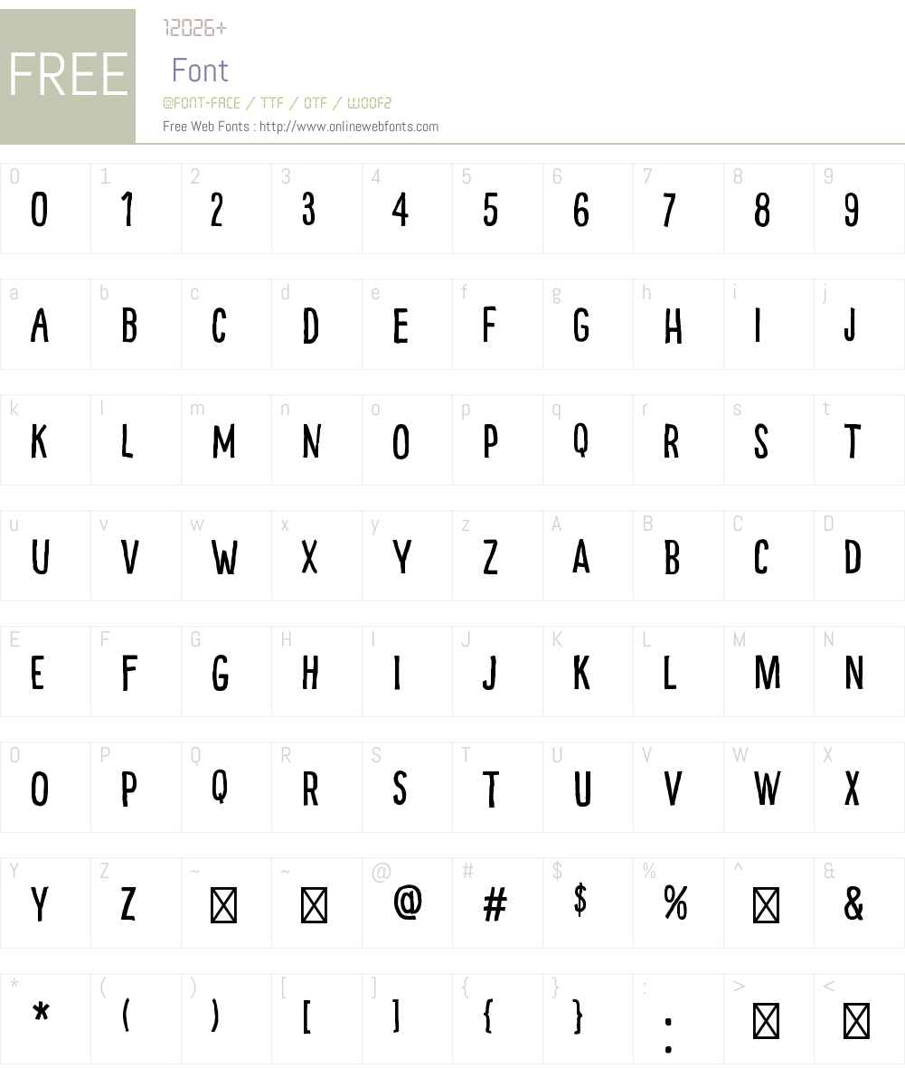 Pinto Font Screenshots