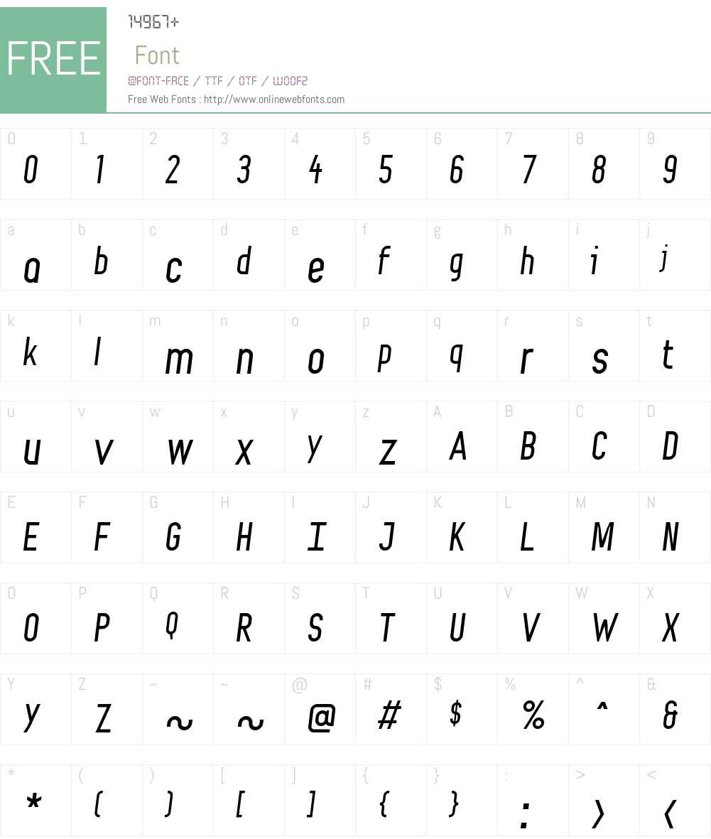 Fondel Font Screenshots