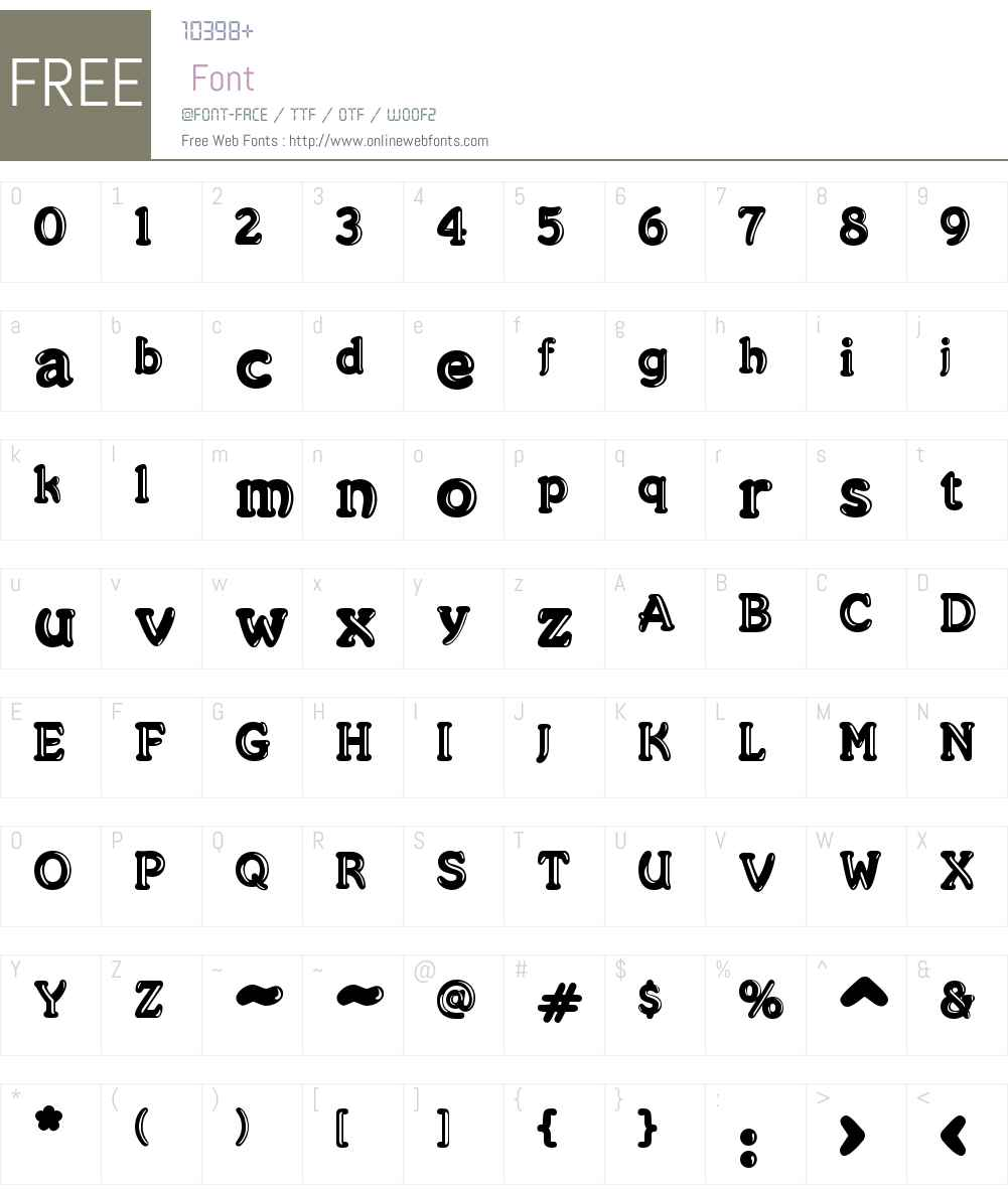 Merkin Goo Font Screenshots