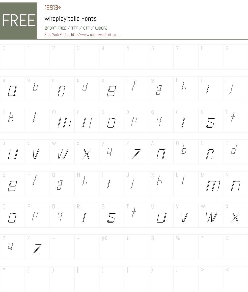 wireplay Font Screenshots