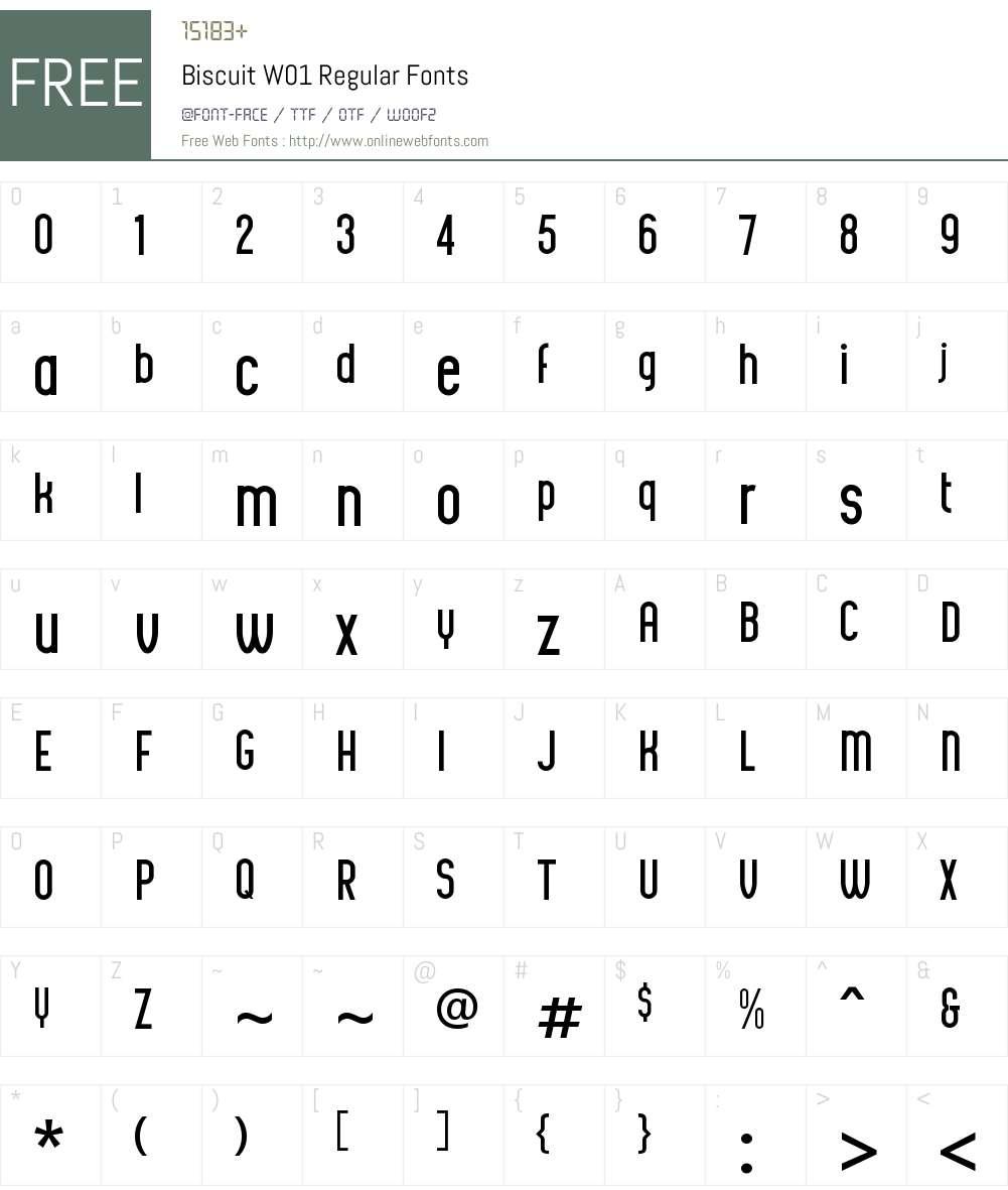 BiscuitW01-Regular Font Screenshots