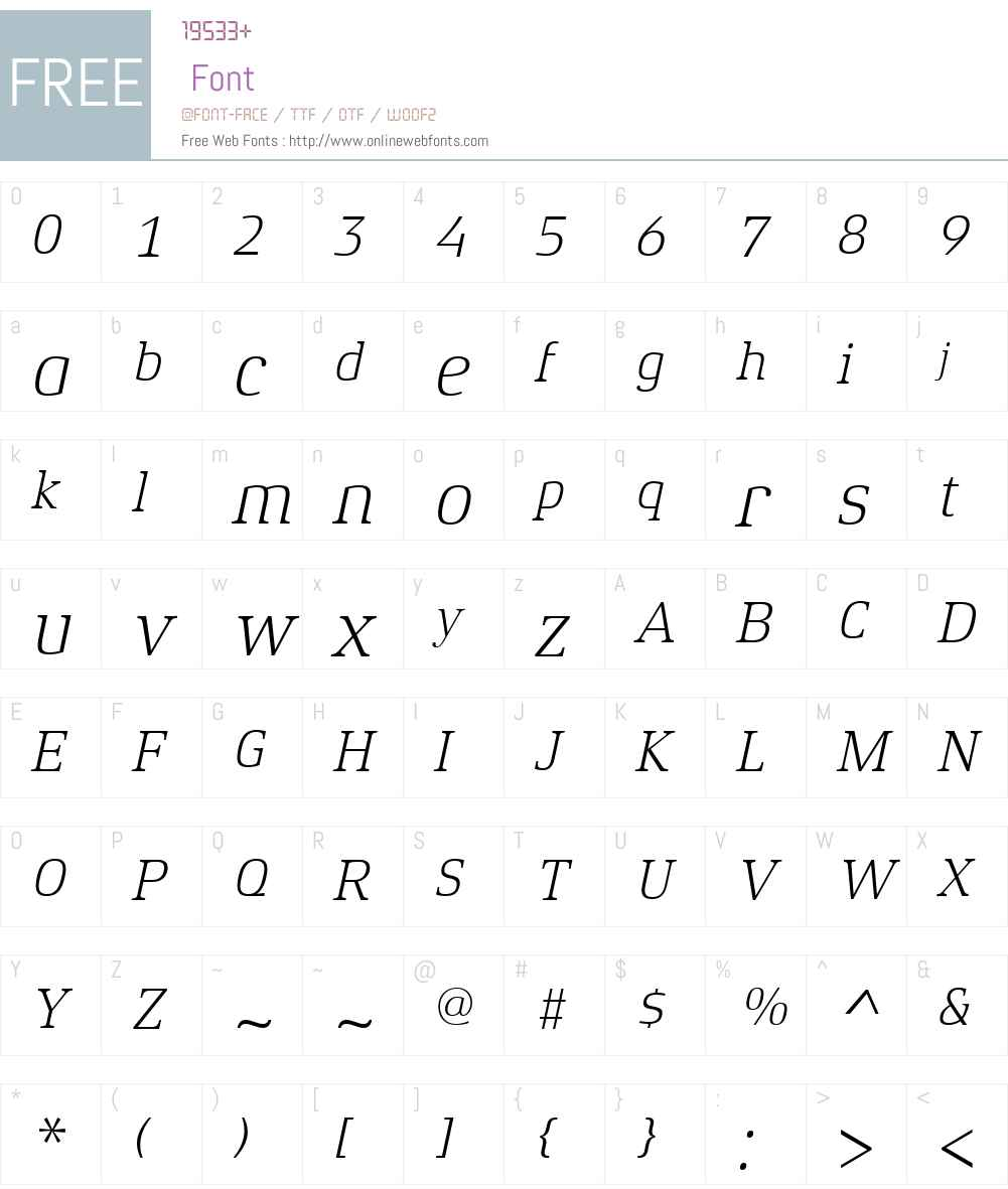 XenoisSerifW01-LightItalic Font Screenshots