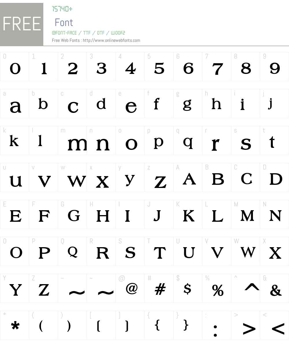 Broadsheet LDO Font Screenshots