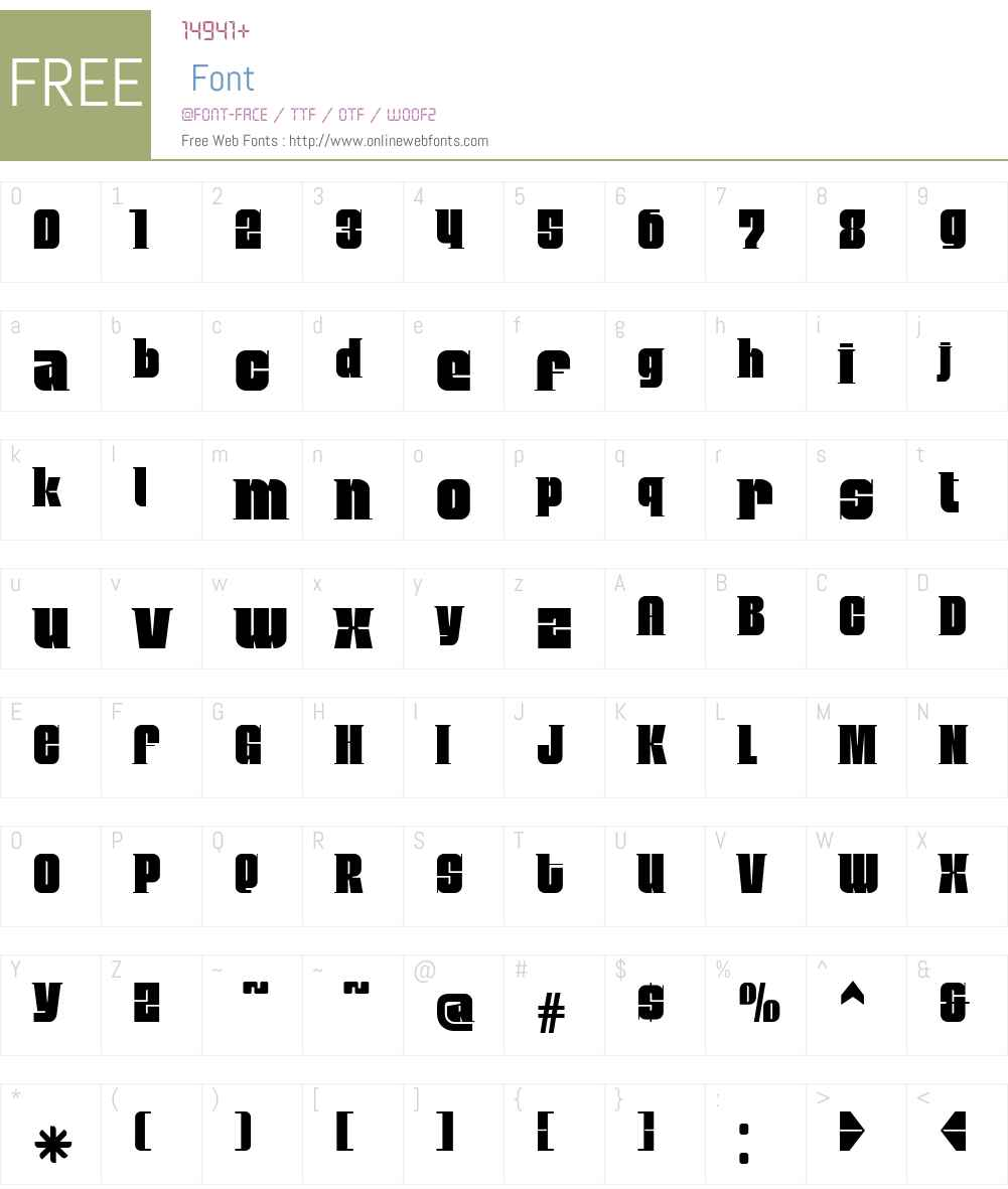MobleySerif Font Screenshots