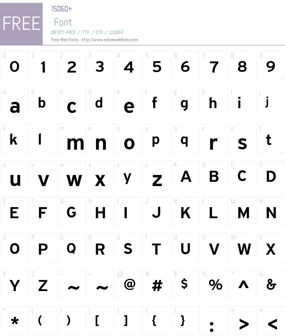 PF Highway Sans Pro Medium Font Screenshots