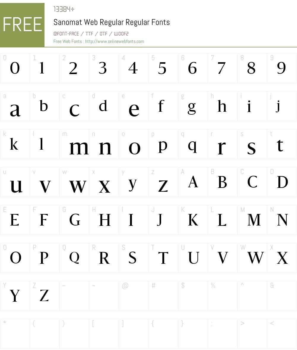 Sanomat Web Regular Font Screenshots