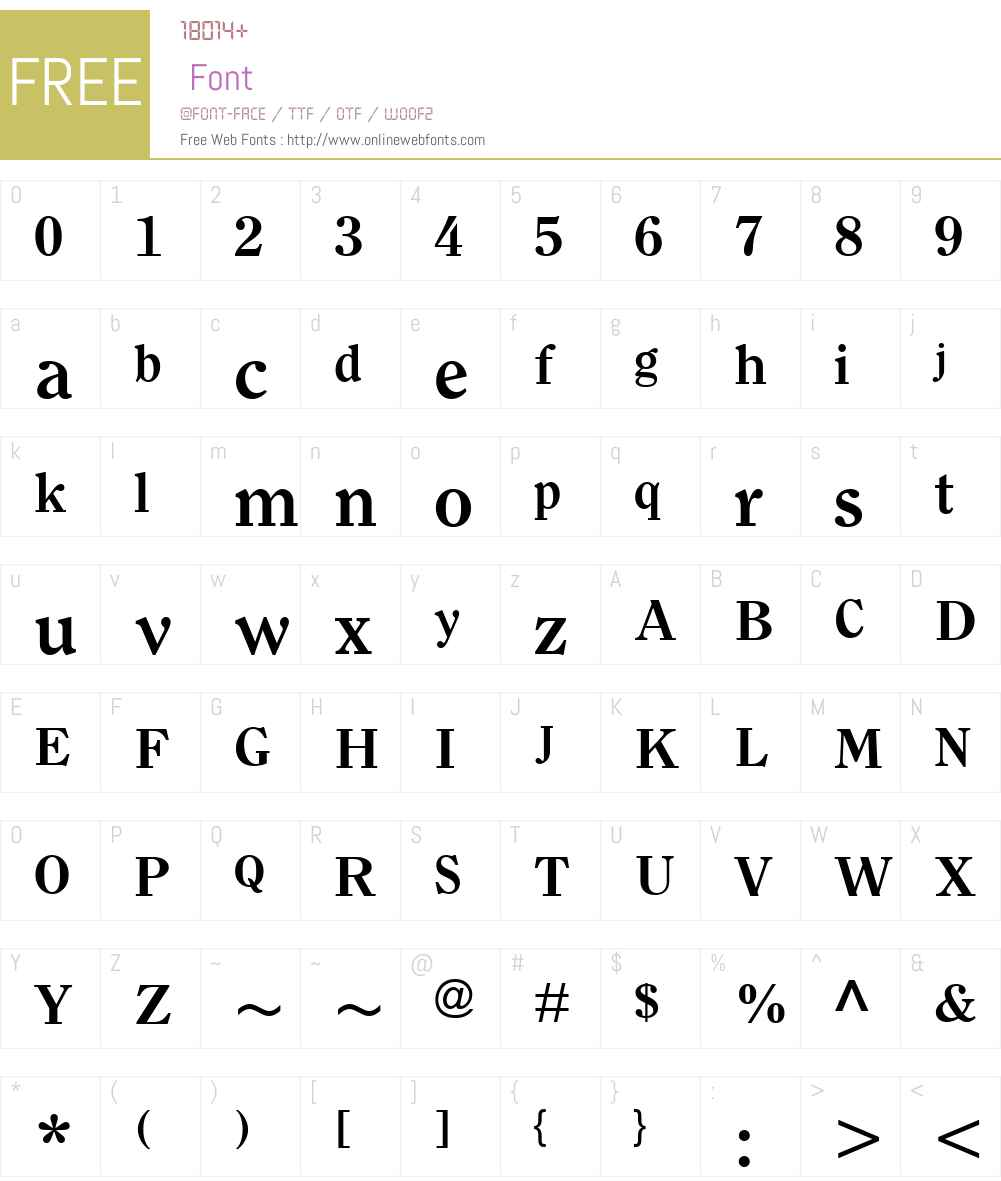 ClearfaceW01-Bold Font Screenshots