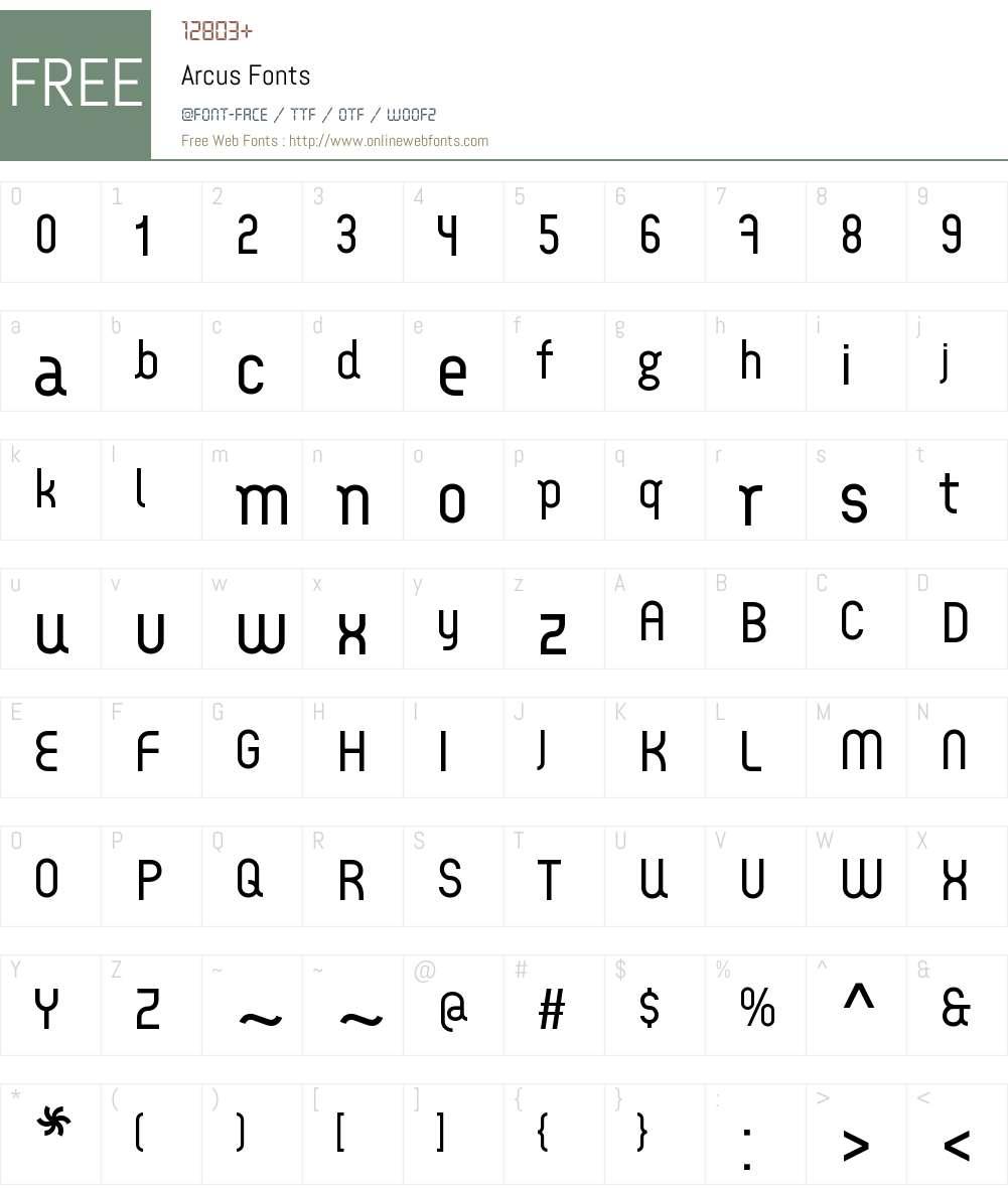 Arcus Font Screenshots