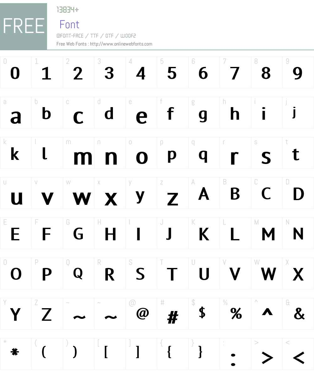 TensorFont Font Screenshots
