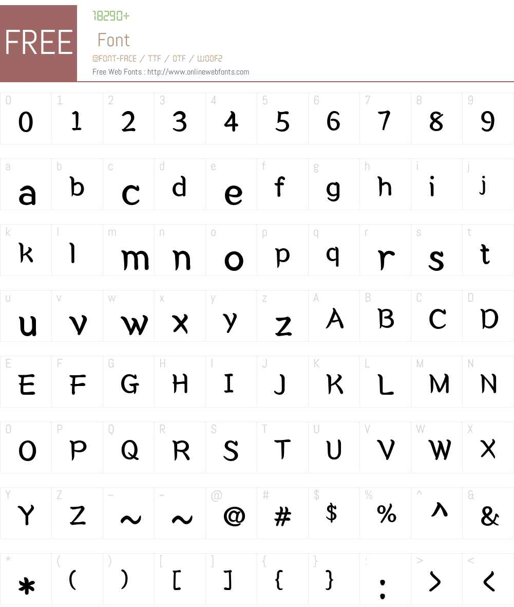 CoreGungseoW01-Regular Font Screenshots