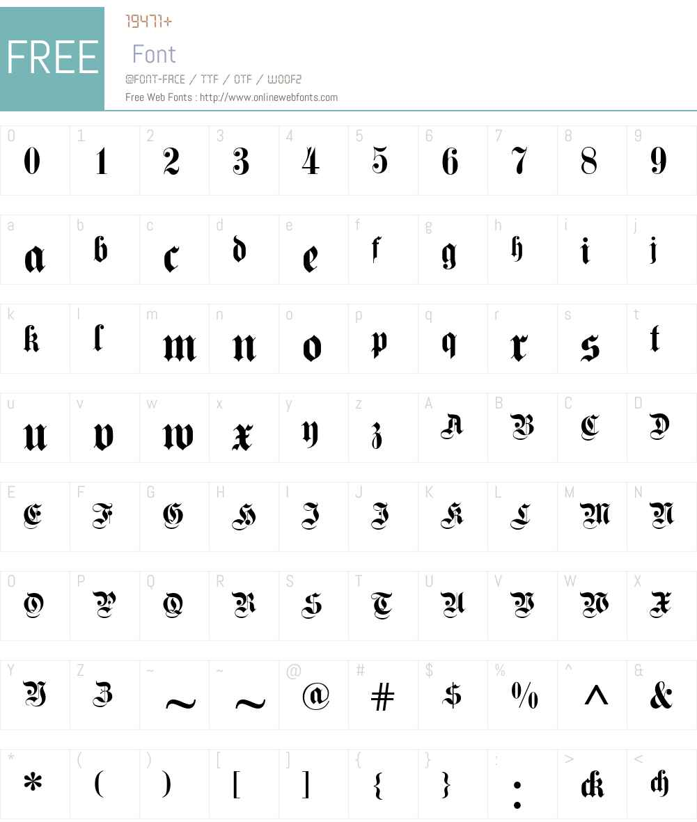 Fette Kanzlei Font Screenshots