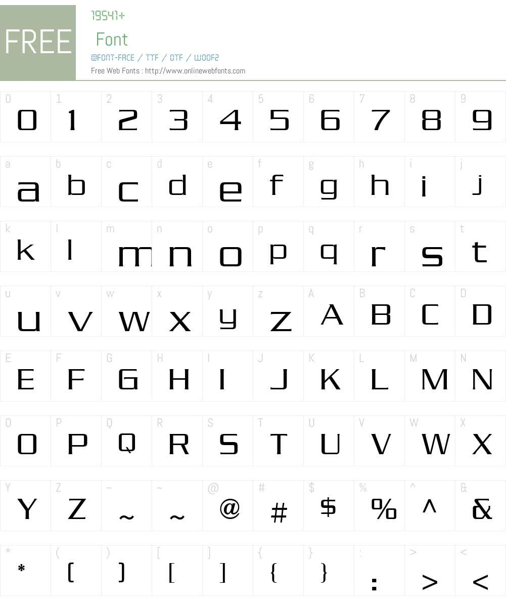 Serpentine ICG Font Screenshots