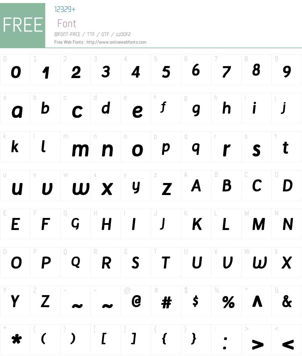 Tellural Font Screenshots