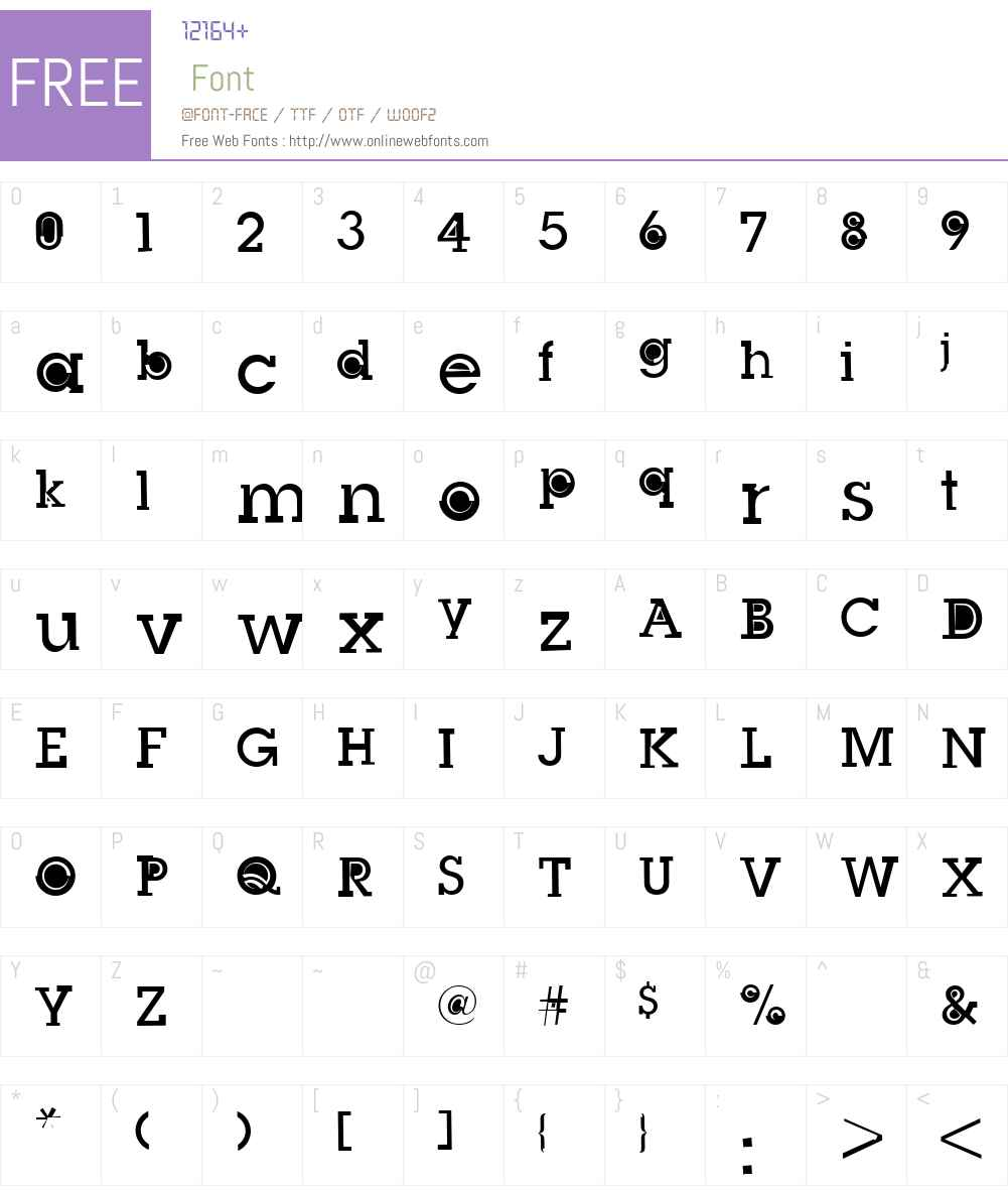 Slug Bug Font Screenshots