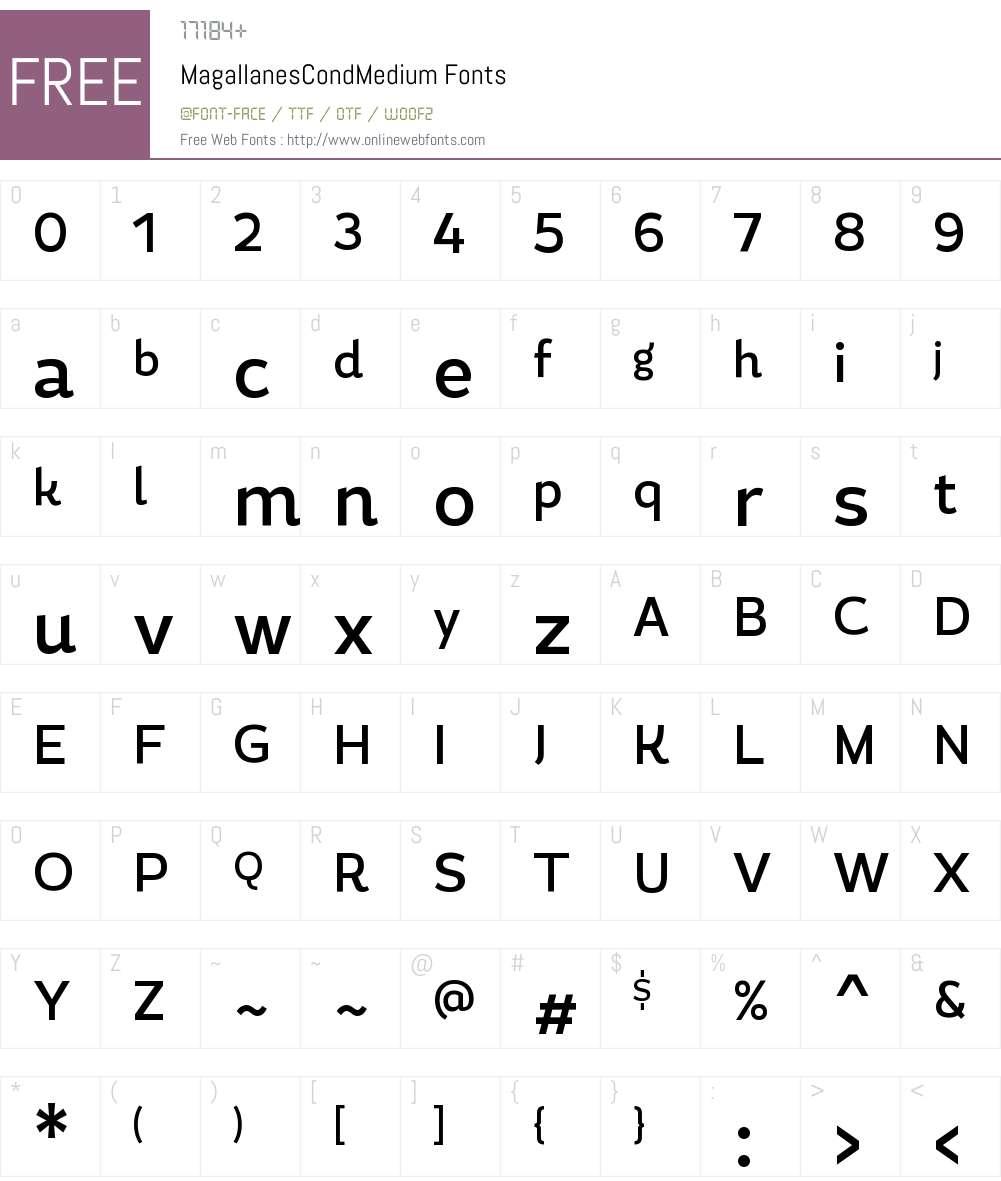 Magallanes Cond Medium Font Screenshots