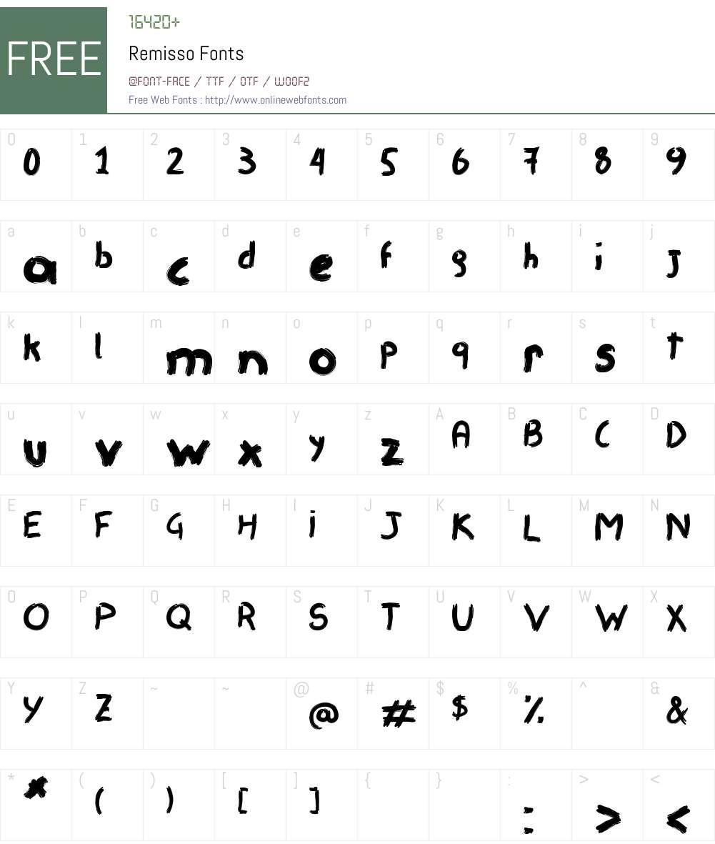 Remisso Font Screenshots