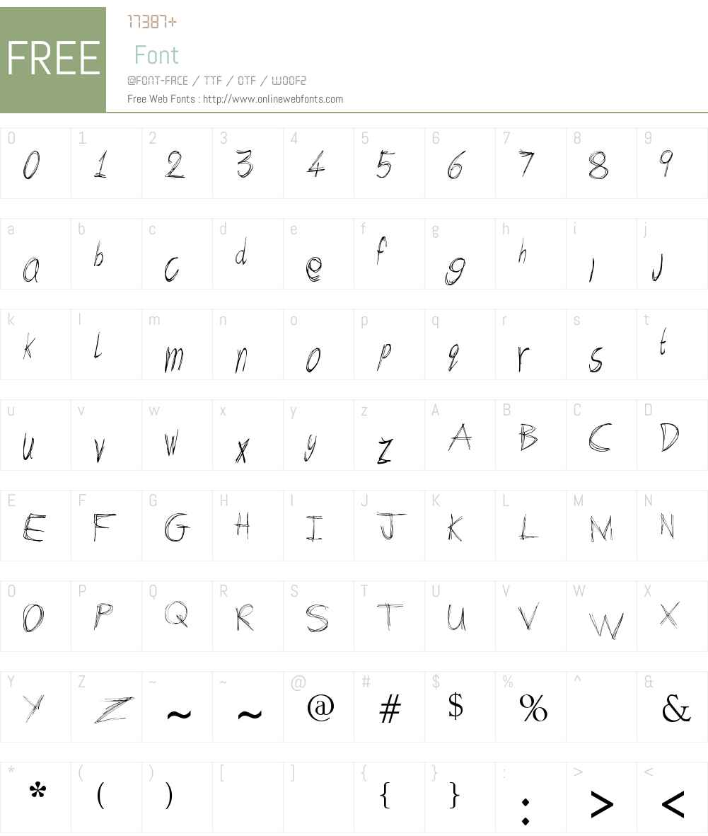 scibble Font Screenshots