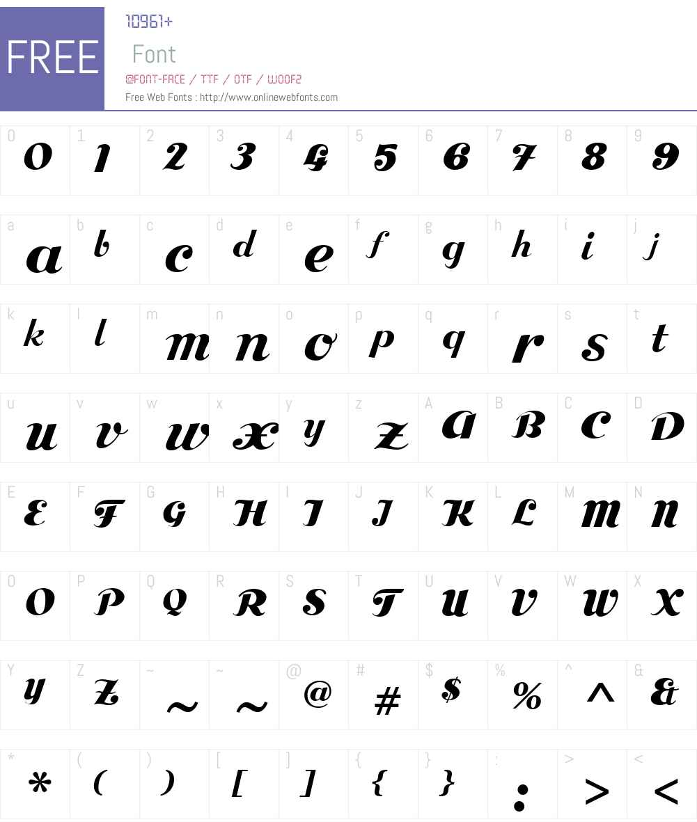 BoleroW00-Regular Font Screenshots