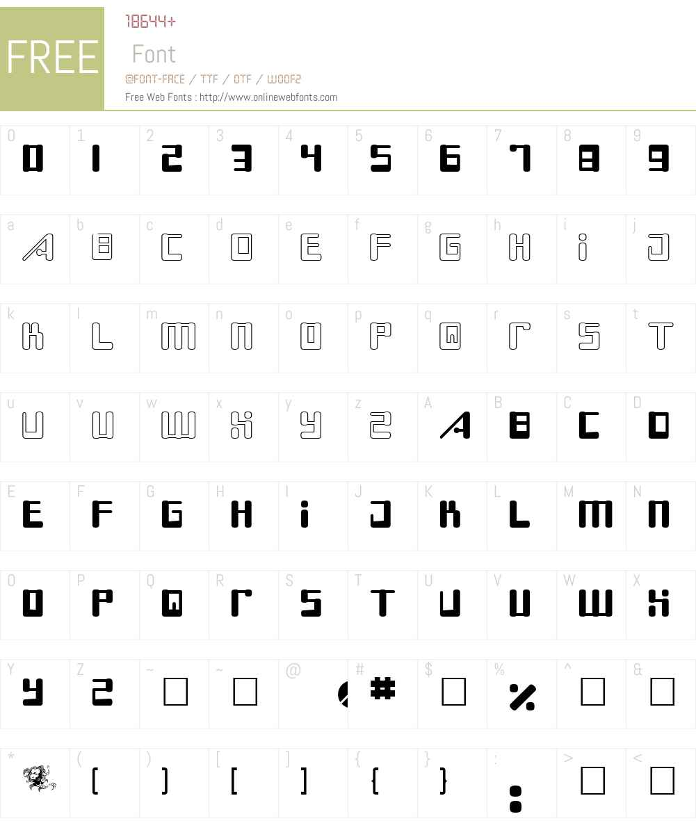 Boss Drum Font Screenshots