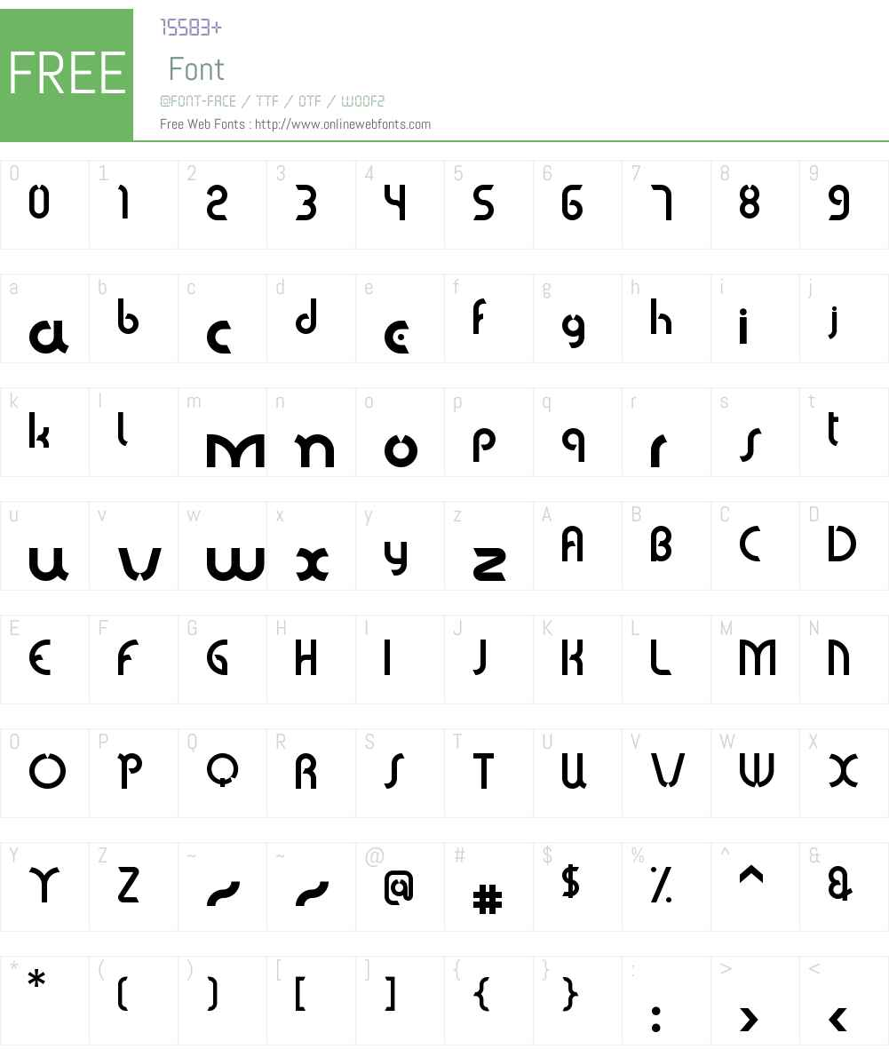 Sabomaster Font Screenshots