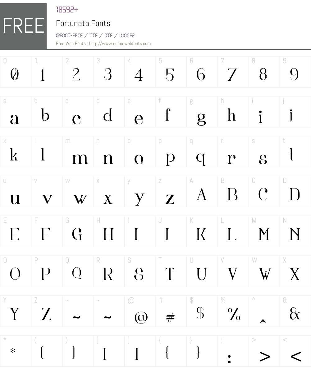 Fortunata Font Screenshots