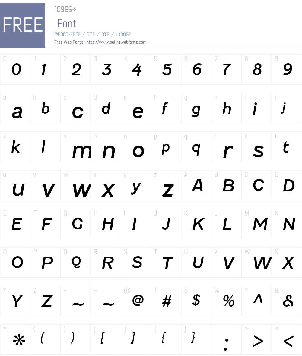 FenwickW00-Italic Font Screenshots