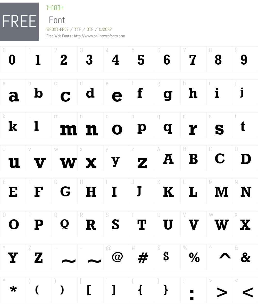 GeometricSlab712W01-Bd Font Screenshots