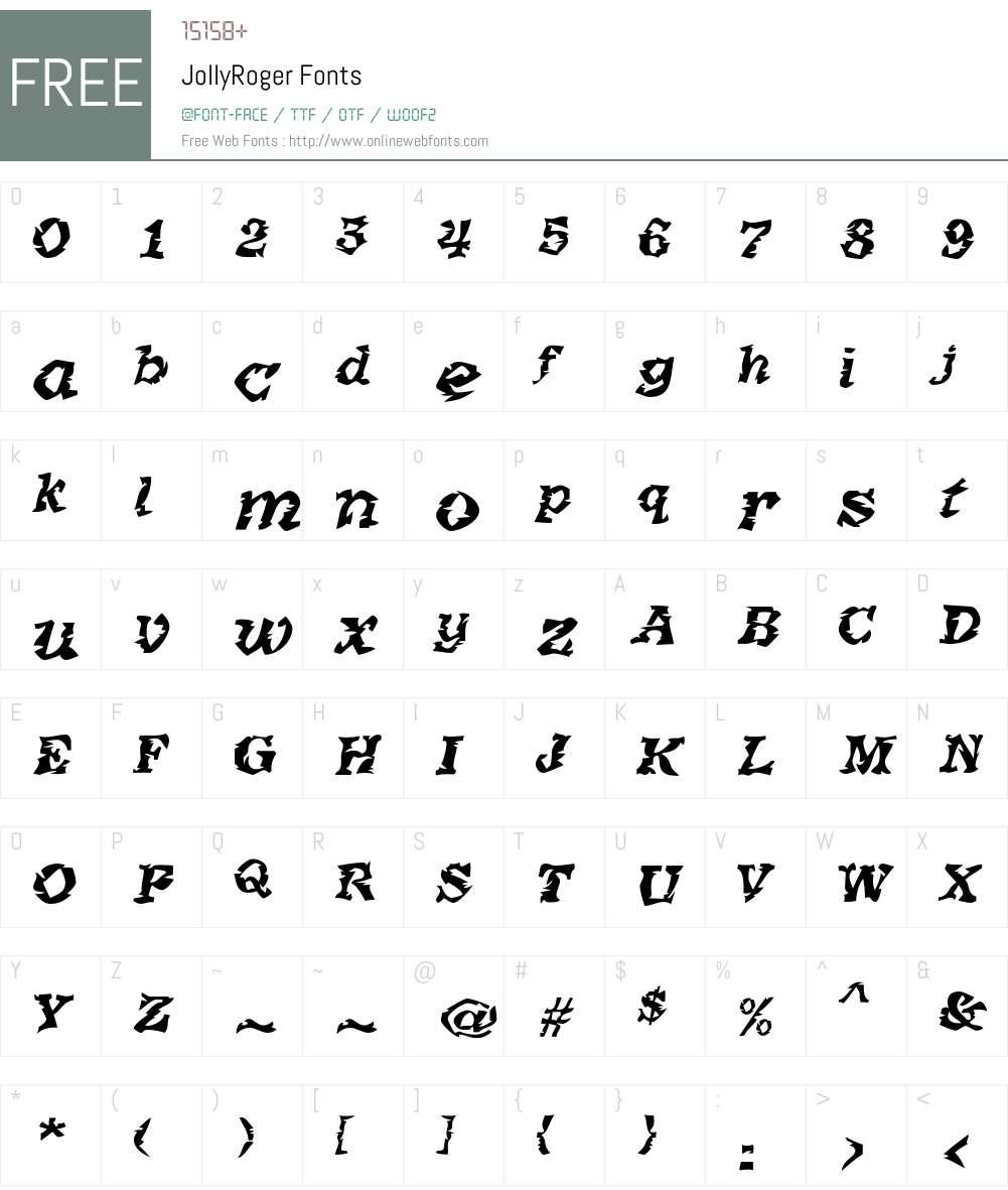 JollyRoger Font Screenshots